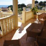 Terrasse inférieure dans villa de luxe à Calpe, quartier de Cucarres