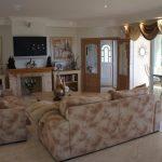 Wohnzimmer der Luxusvilla in Calpe, Cucarres Bereich