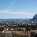 Views from the upper terrace in a luxury villa in Calpe, Cucarres area